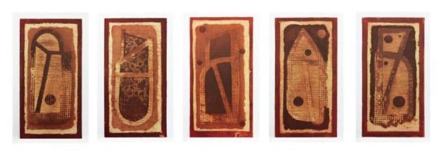 Juego de letras  Carpeta - Vicente Rojo