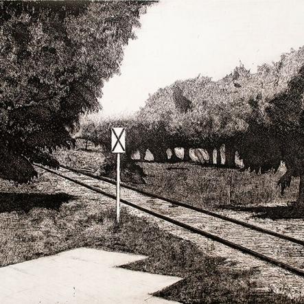 Enrique Hernández- Vías del tren