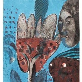 Mujer mano negra 2/25