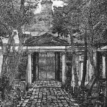 Interior del panteón de Belén
