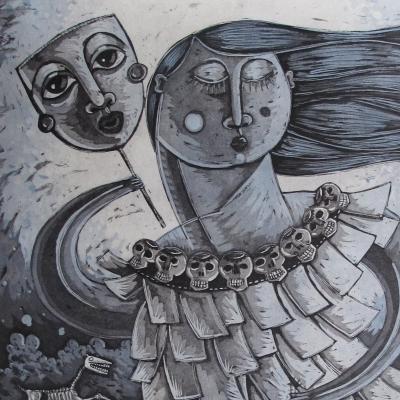 ALEJANDRO LÓPEZ - La hija de la chingada cargando sus muertos
