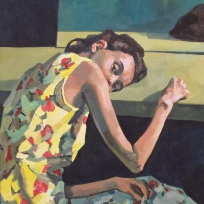 JAN SIEBERT - Descanso frente al espejo.