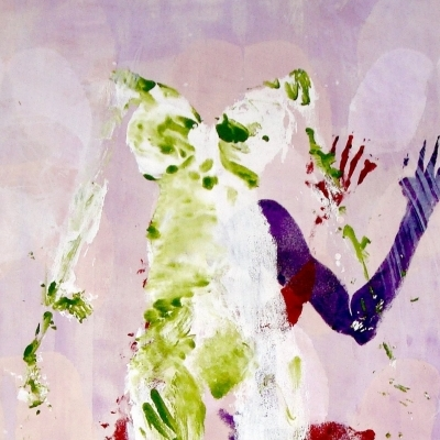 Virgen sobre lienzo