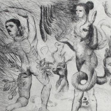 Serpiente, mujer y conejo. 26/30