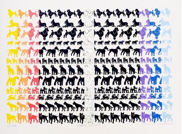 Desfile de perros y poddles