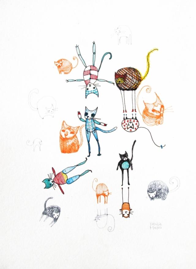 Fiesta de gatos