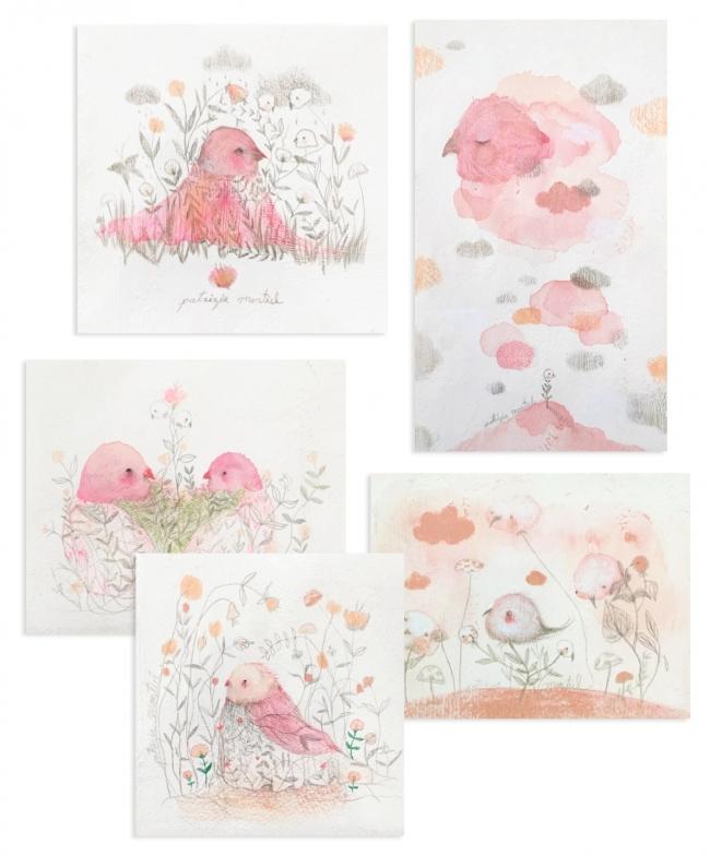 Collage recuerdo en rosa - Patrizia Montiel