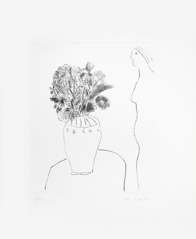 Perfil de mujer con florero I 5/40 - Joy Laville