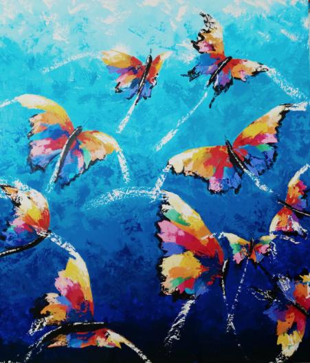 Mariposas de colores - Itzel Sánchez