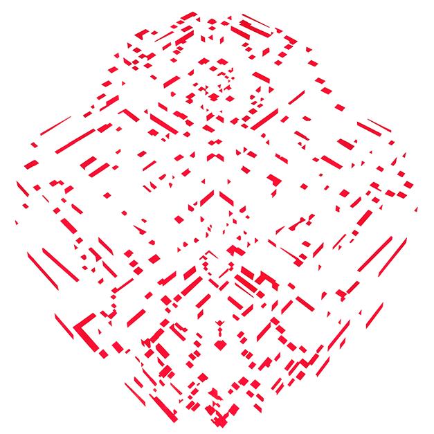 Pirámide diamante rojo - Ernesto Ríos