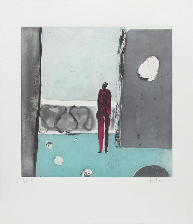 Mujer el el balcón - Joy Laville