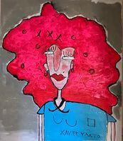 La bonita bailarina de música disco de los labios rojos