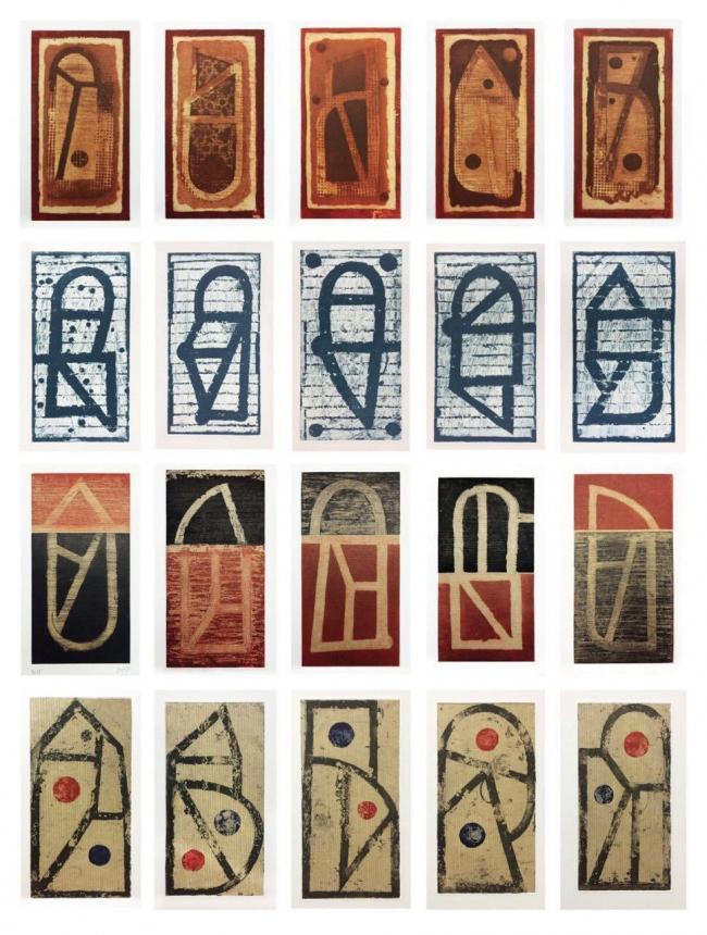 Juego de letras Carpeta 20 piezas 27/30 - Vicente Rojo