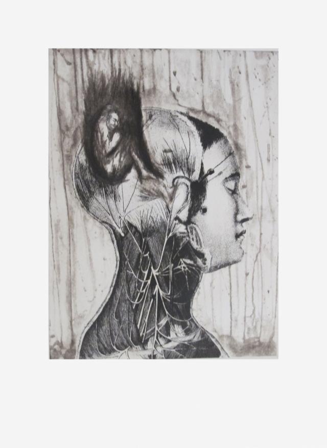 GUSTAVO MONROY. Sin título I cabeza 6/33 - Varios Artistas En La Gráfica