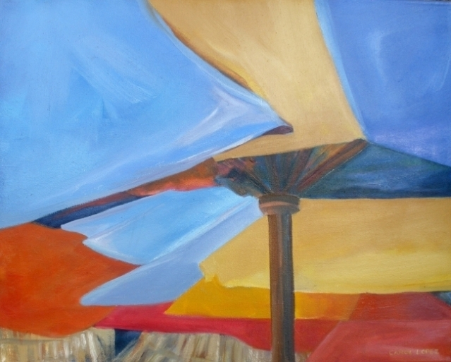 Sombrillas abstracto