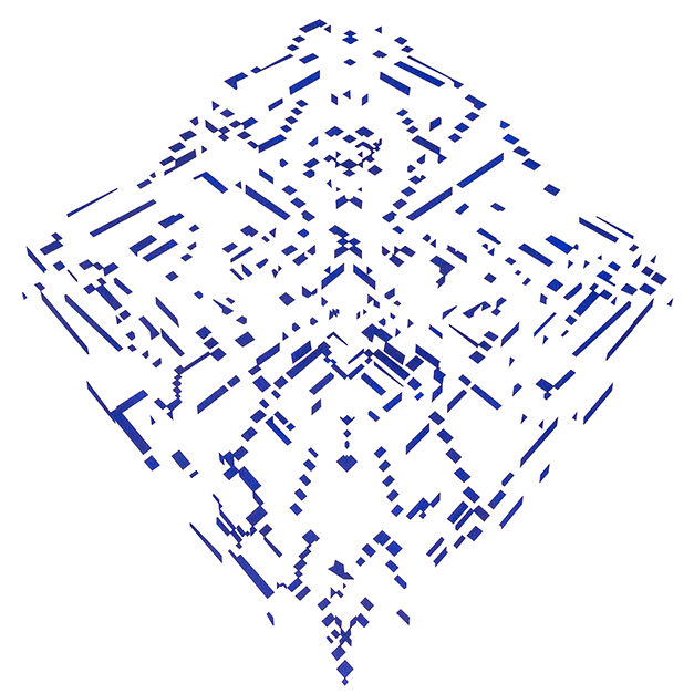 Pirámide diamante azul