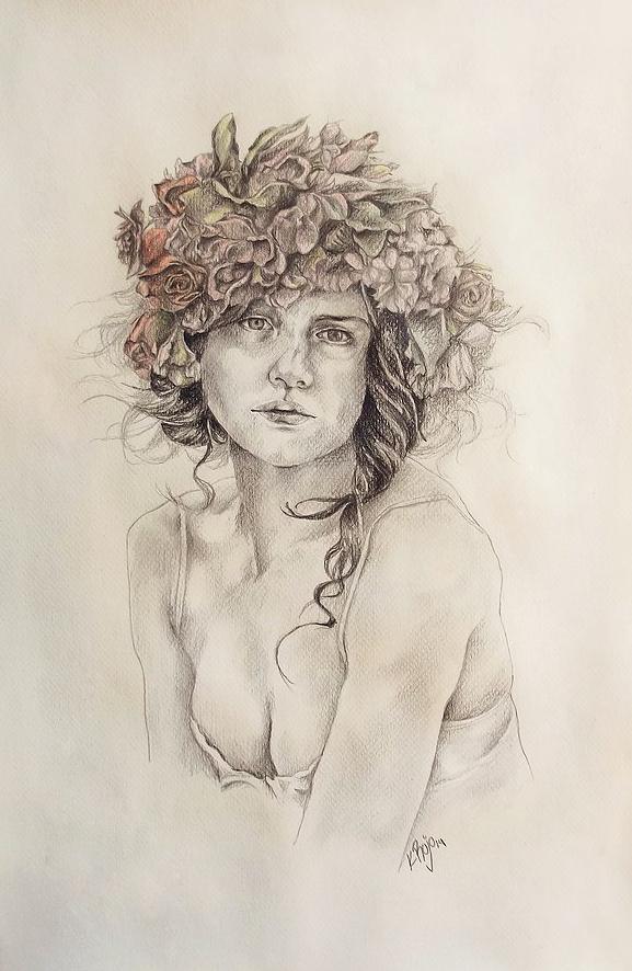Cabeza de flores - Karla Rojo