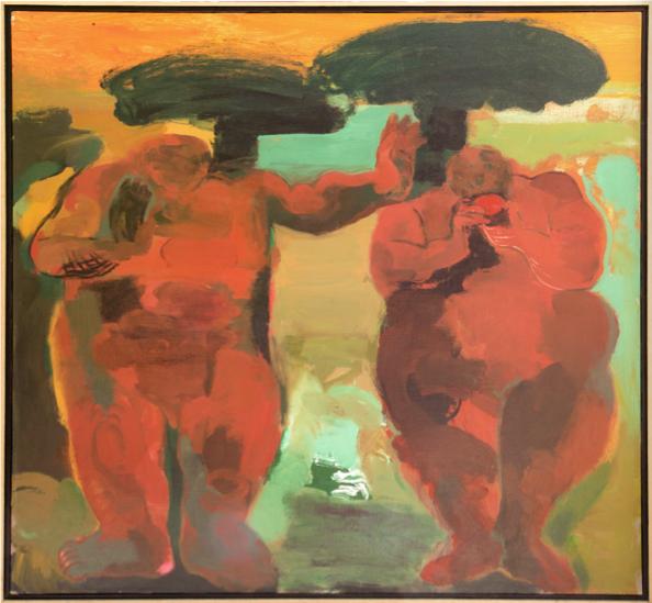 Adán y Eva según Rembrandt No5