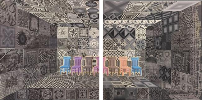 Recibidor Glasialabolas (díptico) - Pedro Friedeberg