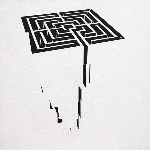 Pirámide laberíntica blanco - Ernesto Ríos