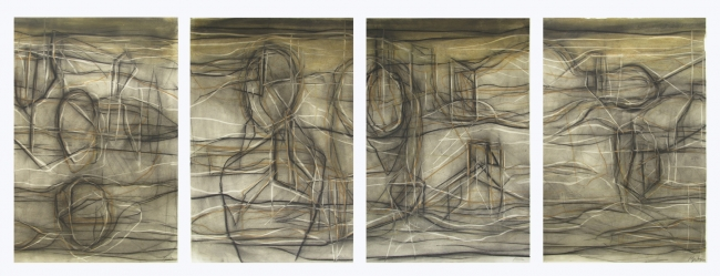 Rostros y cuerpos (políptico) - Gabriel Macotela