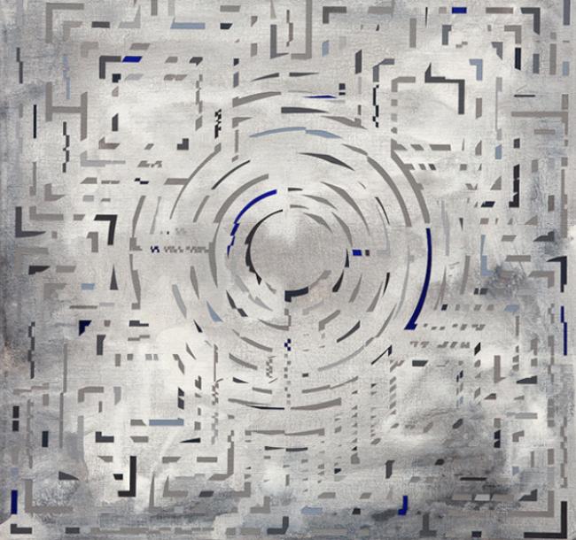 Meditación en espiral con neblina