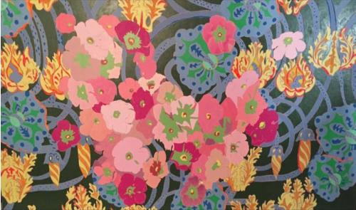 FERNANDA BRUNET Pink flowers