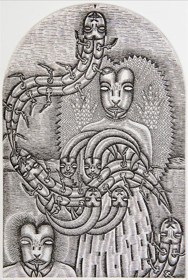 Benito Zamora- Detrás de la ventana - Varios Artistas En La Gráfica