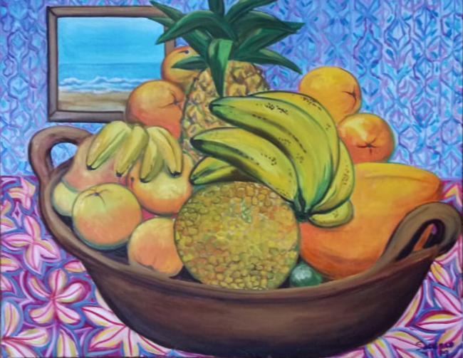 Cazuela con frutas - Soledad Tafolla