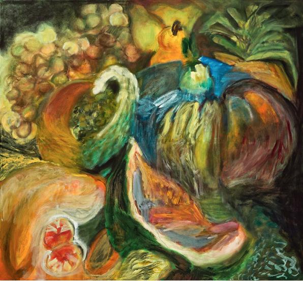 Composición con papaya
