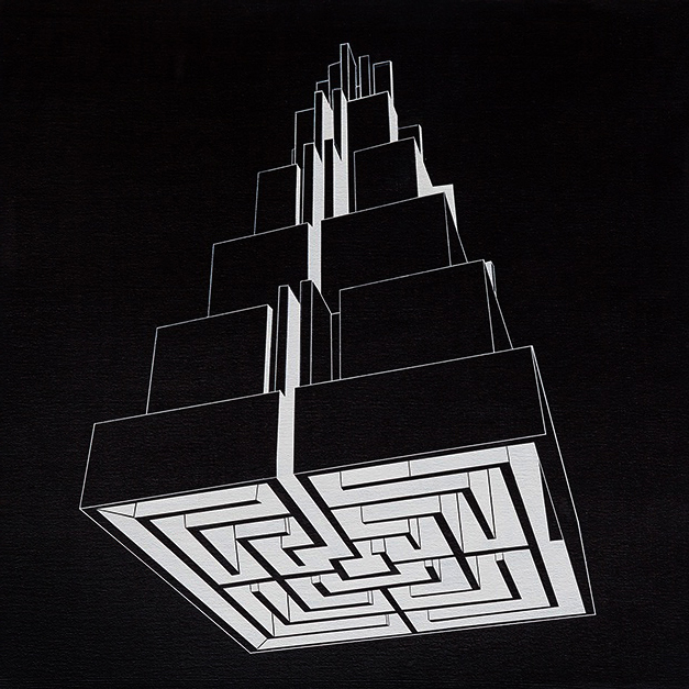 Pirámide laberíntica negro - Ernesto Ríos