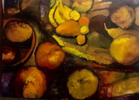 Frutas sobre la mesa