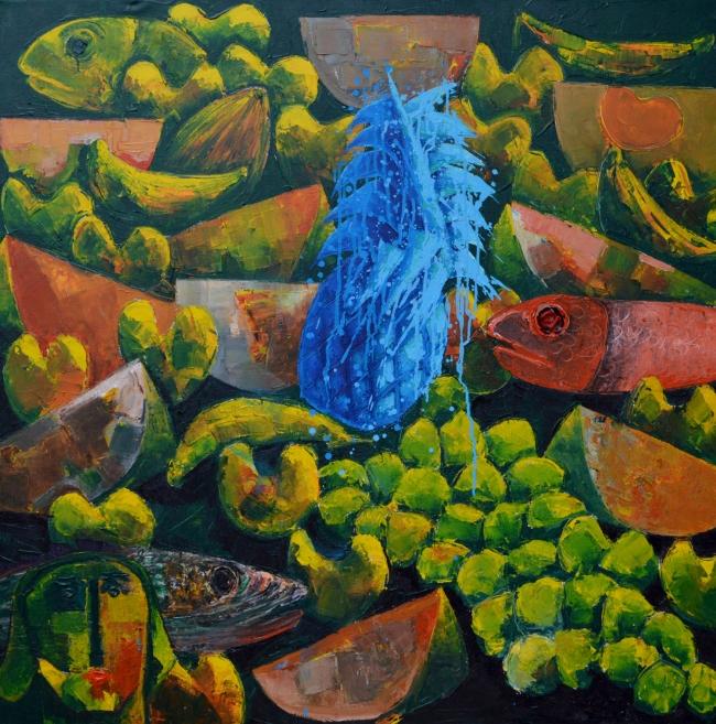 La piña azul