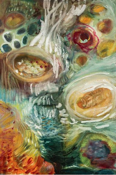 Composición con melones - Alicia Amador