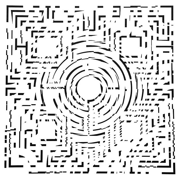 Meditación en espiral blanco