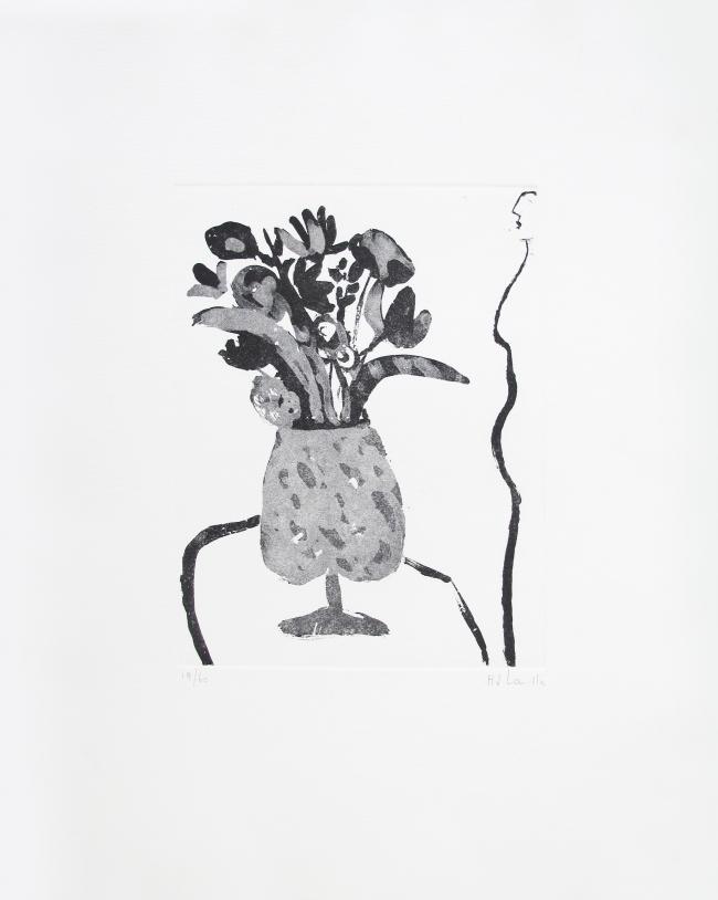 Perfil de mujer con florero II 19/60 - Joy Laville
