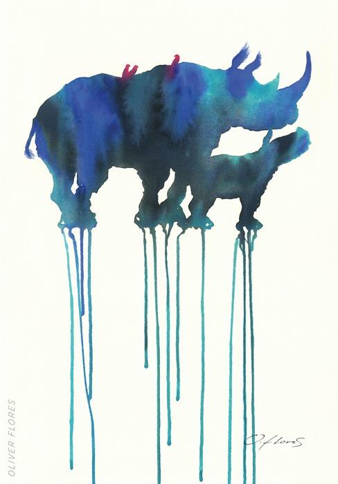 Rinoceronte azul