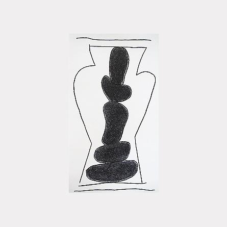 escultura con piedras