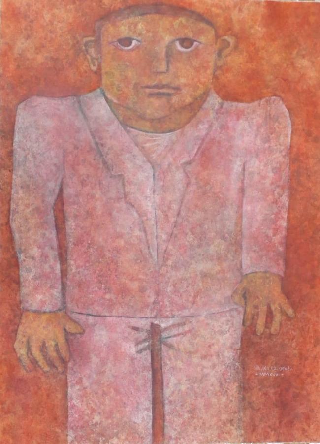 Ulises Calderón - Retrato con traje blanco