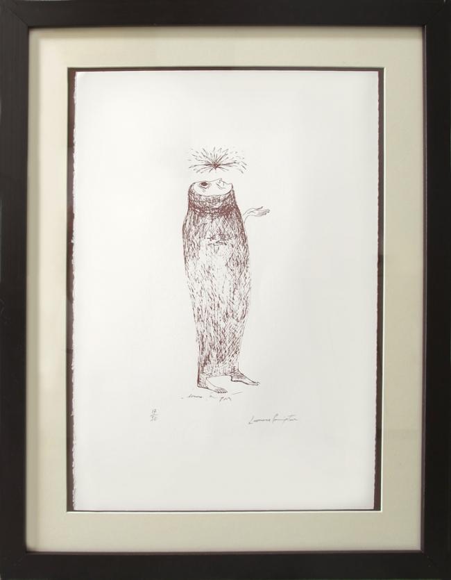Personaje mirando la luz - Leonora Carrington