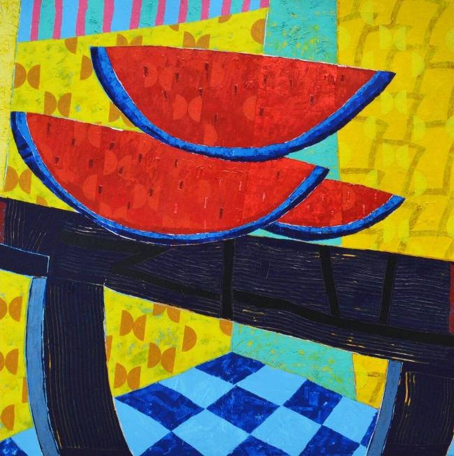 Mesa con sandías