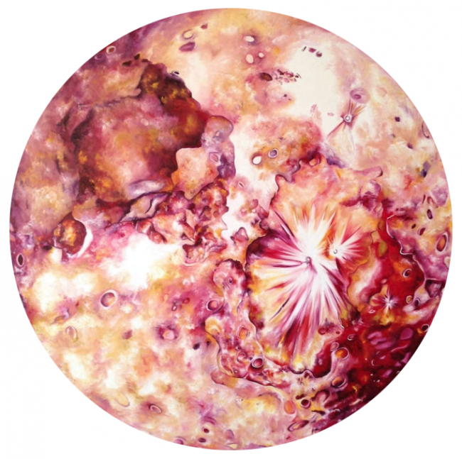 Luna roja- Carlina Cisneros - Pinturas De Varios Artistas