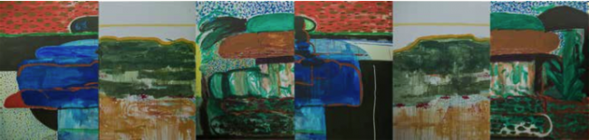 Cabezas olmecas mural