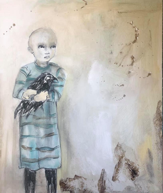 Cuervo niño chico