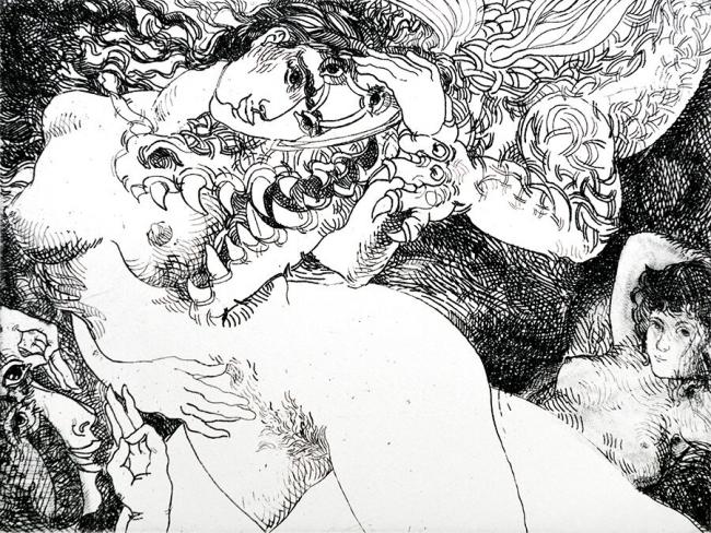 Jerónimo Uribe Clarín- Maja y el dragón - Varios Artistas En La Gráfica
