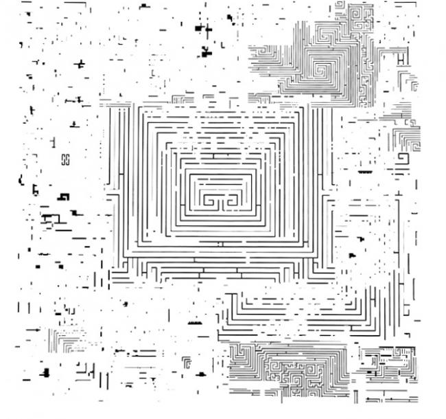 Circuito laberíntico blanco