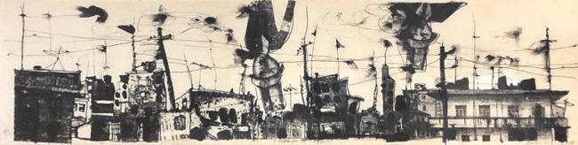 Walter Cruz. Llegando los monos - Varios Artistas En La Gráfica
