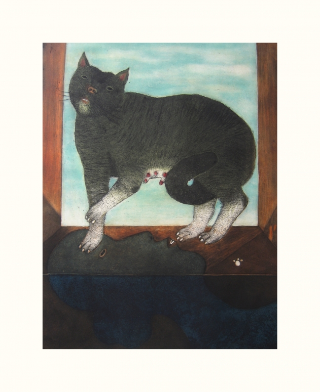 Gato con sombra de mujer - Luis Valsoto