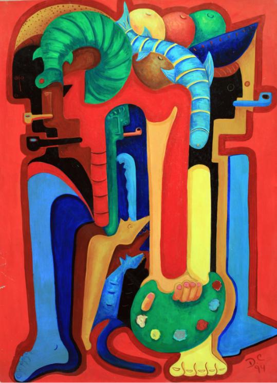 El pintor y sus modelos III