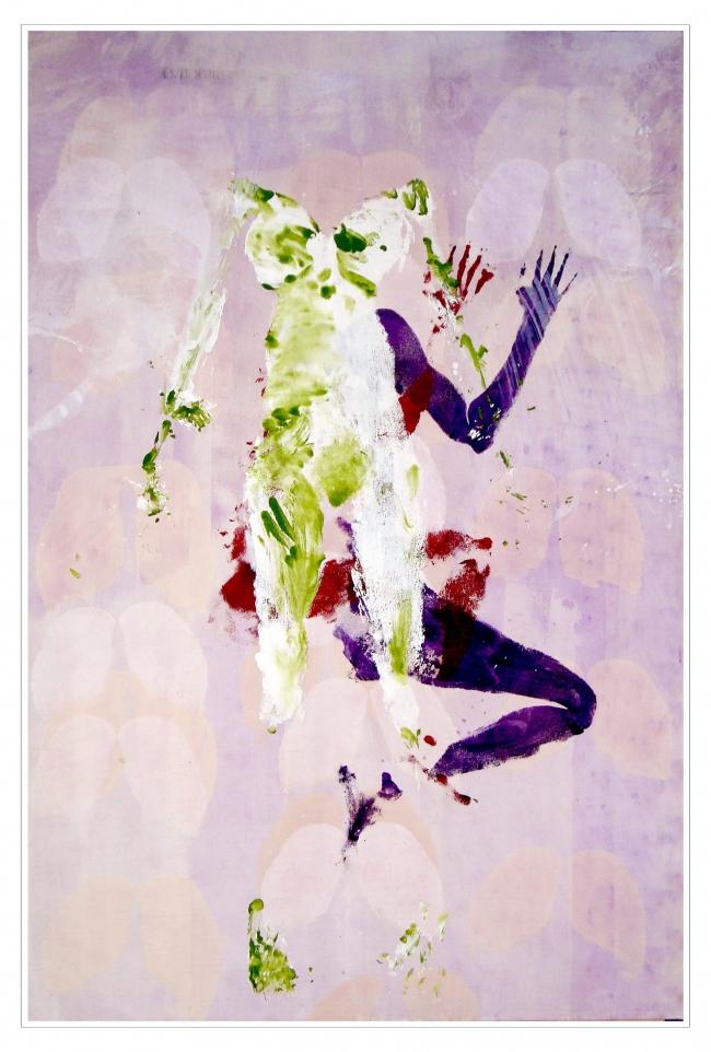 Virgen sobre lienzo - César Burgos